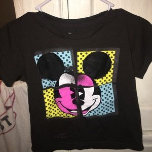 Mickey Mouse cropped shirt
